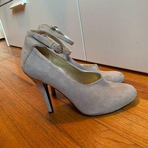 """Nine West 4.5"""" Grey Heels"""